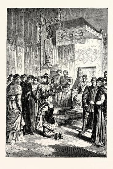 Joan of Arc Recognises Charles Vii. Among His Courtiers--Giclee Print