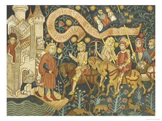 Joan of Arc She Arrives at the Chateau de Chinon--Giclee Print