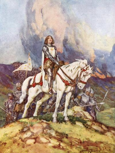 Joan of Arc, the Country Girl Who Led a King to Victory, 20th Century-C Dudley Tennant-Giclee Print
