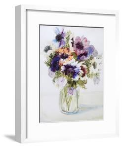 Anemones in a Glass Jug, 2000 by Joan Thewsey