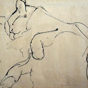 Cat, 'Mouser', 1980 by Joan Thewsey