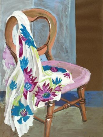 Chair and Patterned Fabric, 2000 by Joan Thewsey