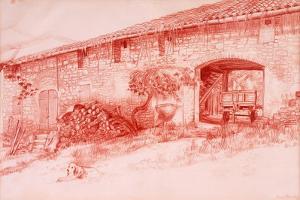 Farmhouse, Provence, 2000 by Joan Thewsey