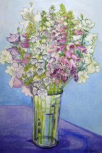 Foxgloves and Campanulas, 2005 by Joan Thewsey