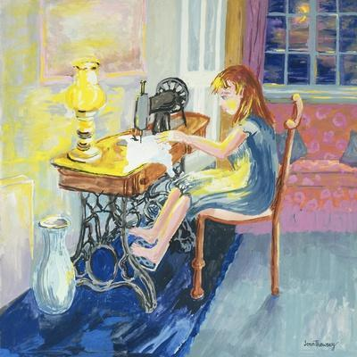 Girl Sewing, 2000