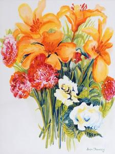 Orange Lilies,Gardenias and Carnations 2006 by Joan Thewsey