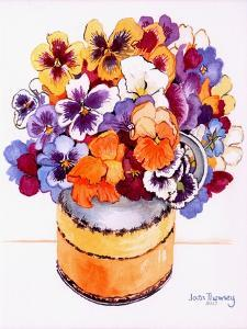Pansies in a Midwinter Jug, 2000 by Joan Thewsey