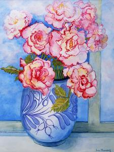 Pink Roses against the Sky 2004 by Joan Thewsey