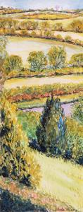 Suffolk Landscape, View Form the Front Window, 2000 by Joan Thewsey