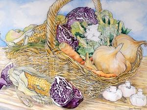Vegetables in a Basket, 2012 by Joan Thewsey