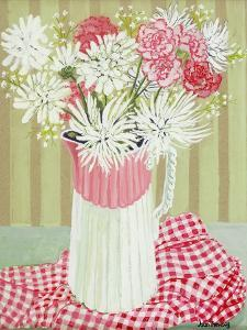 White Chrysanthemums and Spray, 2008 by Joan Thewsey
