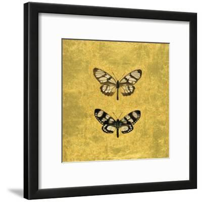 Pair of Butterflies on Gold