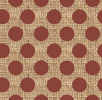 Burlap Red Dots by Joanne Paynter Design