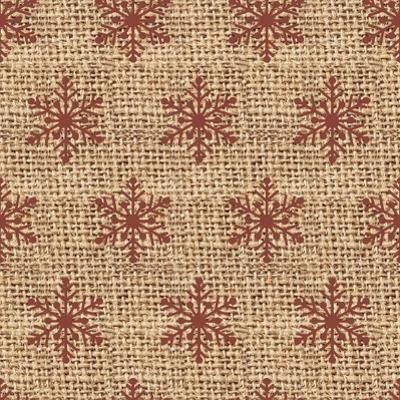 Burlap Red Snowflakes by Joanne Paynter Design