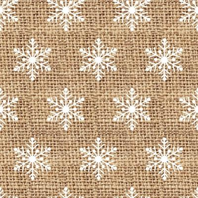 Burlap White Snowflakes by Joanne Paynter Design