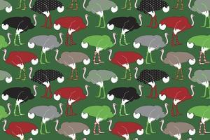 Christmas Ostrich Stockings by Joanne Paynter Design