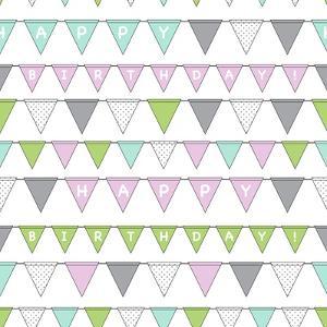 Happy Birthday Bunting Girl by Joanne Paynter Design