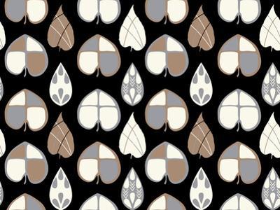 Organic Leaves Blk by Joanne Paynter Design