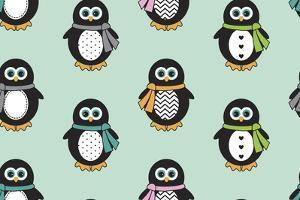 Penguin Scarves by Joanne Paynter Design