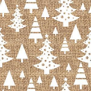 Trees Burlap by Joanne Paynter Design