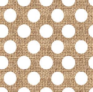 White Burlap Dots by Joanne Paynter Design