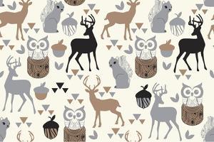 Woodland Birch Deer by Joanne Paynter Design