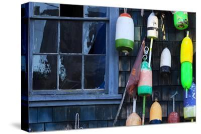 Buoys on an Old Shed at Bernard, Maine, USA