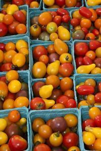 Cherry Tomatoes at a Farmer's Market in Savannah, Georgia, USA by Joanne Wells