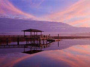 Clouds Reflecting on a Creek at Sunrise, Savannah, Georgia, Usa by Joanne Wells