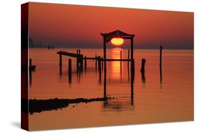 Florida, Apalachicola, Old Boat House at Sunrise on Apalachicola Bay
