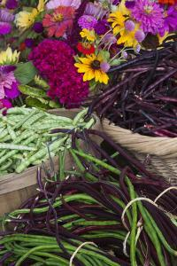 Flowers and Vegetables at Farmers' Market, Savannah, Georgia, USA by Joanne Wells