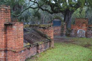 Georgia, Savannah, Burial Vaults in Historic Colonial Park Cemetery by Joanne Wells