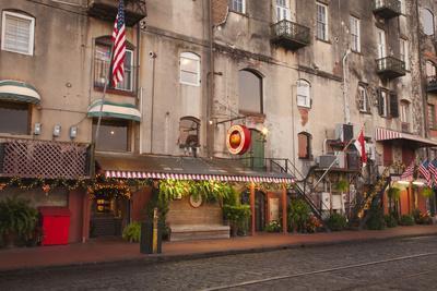 Georgia, Savannah, Historic Buildings Along River Street