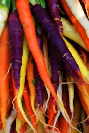 Multi Colored Carrots at a Farmer's Market in Savannah, Georgia, USA