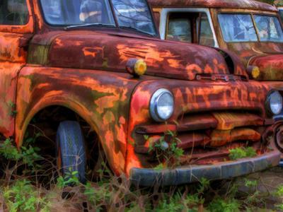 Rusty Trucks at Old Car City, Georgia, USA