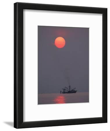 Shrimp Boat at Sunrise, Tybee Island, Georgia, USA