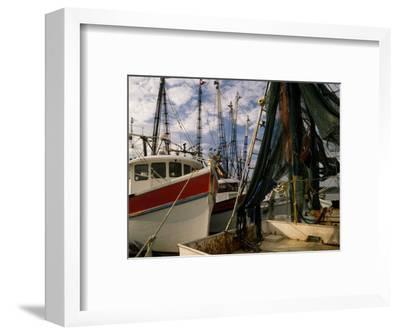 Shrimp Boats Tied to Dock, Darien, Georgia, USA