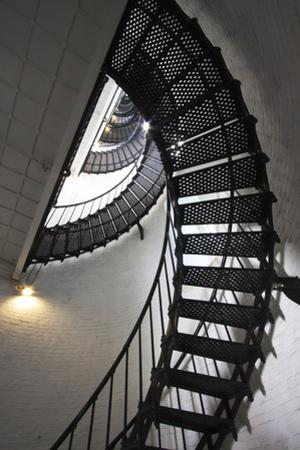 Stairs to the Top of the Saint Augustine Lighthouse, Florida, USA by Joanne Wells