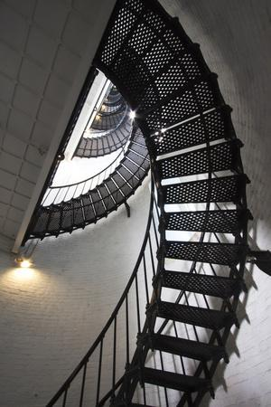 Stairs to the Top of the Saint Augustine Lighthouse, Florida, USA