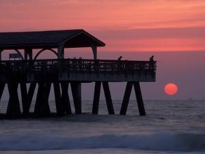 Sunrise at the Pier, Tybee Island, Georgia, USA by Joanne Wells