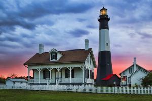 Tybee Light House at Sunset, Tybee Island, Georgia, USA by Joanne Wells