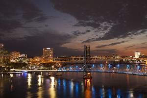 Usa, Florida, Jacksonville, Main Street Bridge across the St. John's River by Joanne Wells
