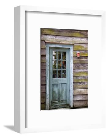 USA, Georgia, Savannah, An old door in the Historic District.