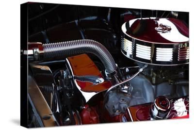 USA, Georgia, Savannah, Engine of a Car in Car Show