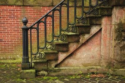 USA, Georgia, Savannah, Steps in the Historic District
