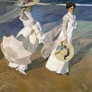 A Walk on the Beach, 1909 by Joaqu?n Sorolla y Bastida