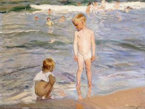 Afternoon Sun, Valencia Beach, 1910 by Joaqu?n Sorolla y Bastida
