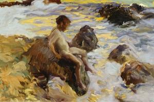Boy in the Breakers, Javea, 1900 by Joaqu?n Sorolla y Bastida