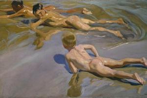 Boys on the Beach, 1909 by Joaqu?n Sorolla y Bastida