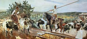 El Encierro, 1915, Spanish School by Joaqu?n Sorolla y Bastida